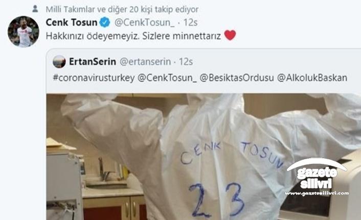 Cenk Tosun'dan sağlık çalışanlarına destek