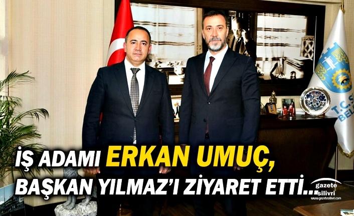 İş Adamı Erkan Umuç, Başkan Yılmaz'ı ziyaret etti
