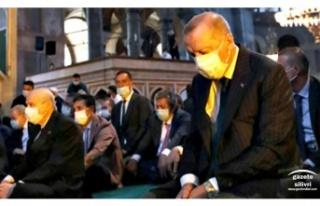 Başkan Yılmaz Ayasofya'da Cumhurbaşkanı ve...