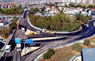 BÖLGE TRAFİK KÖPRÜLÜ KAVŞAĞI 1000 TON ASFALTLA...