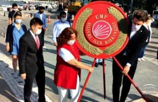 CHP Silivri 97. Yaşında Atatürk Anıtına Çelenk...