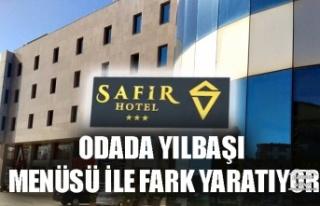 SAFİR HOTEL SİLİVRİ ODADA YILBAŞI MENÜSÜ İLE...