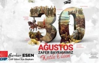 Berker Esen'den 30 Ağustos Mesajı