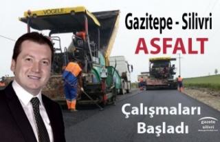 Gazitepe Silivri Arası Yol Asfaltlama Çalışması...