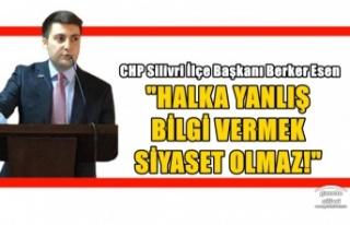 """ESEN; """"HALKA YANLIŞ BİLGİ VERMEK SİYASET..."""