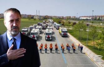 """BAŞKAN YILMAZ: """"BELEDİYEMİZE 50 ADET HİBE ARAÇ KAZANDIRDIK"""""""
